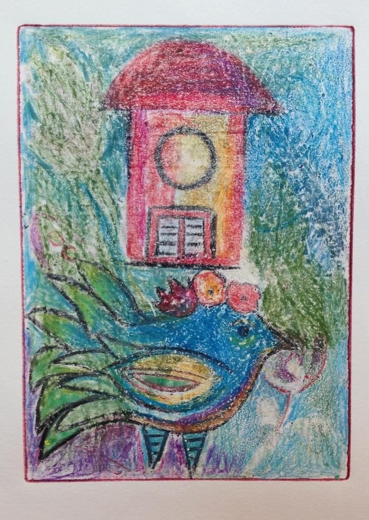 Monoprint crayons