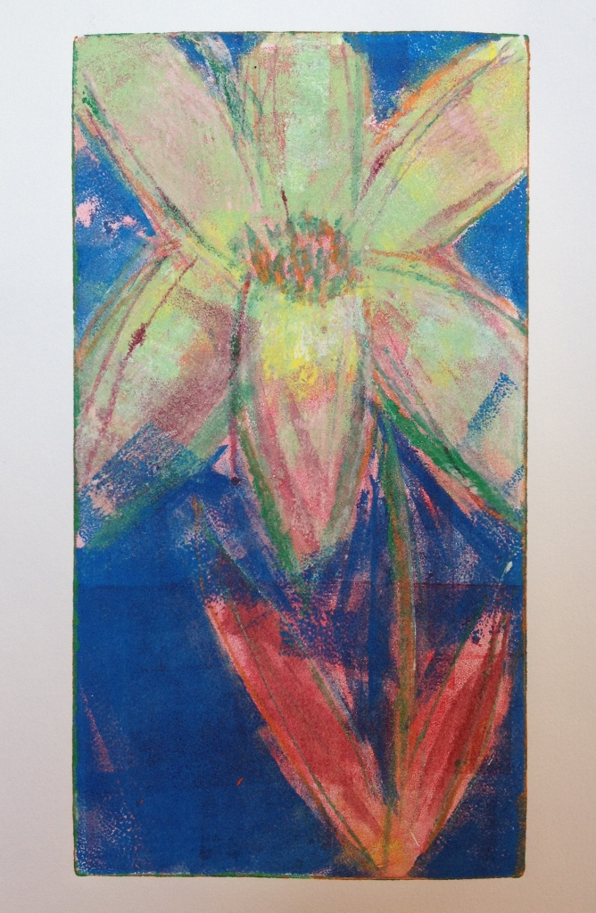 Monoprint brayer painting